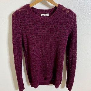 If It Were Me Open Knit Sweater, M